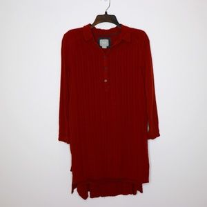 Maeve Rust Tie Front Tunic Dress Size 4